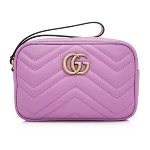 Gucci Purple GG Marmont Wallet Wristlet Clutch Bag